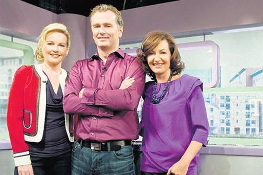 Claire Byrne, Daithi O Se and Maura Derrane