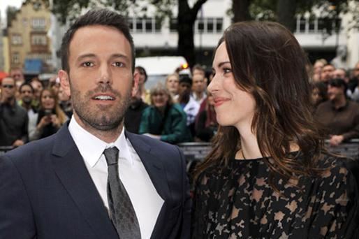 Ben Affleck and Rebecca Hall arrive for the special Bafta screening of The Town. Photo: PA