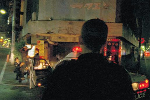 OUT OF BODY TRIP: A scene from 'Enter the Void', as the ghost of Oscar observes the Tokyo police at work