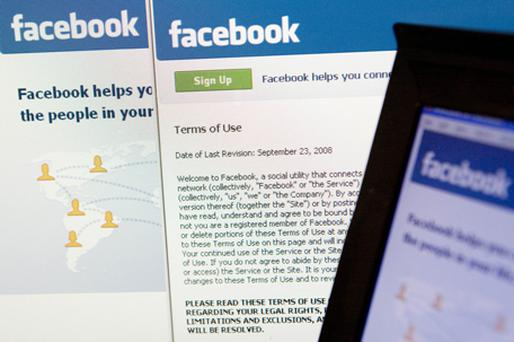 Reports yesterday alleged that Facebook is developing smartphone software. Photo: Bloomberg News