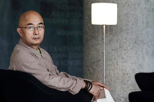 Chinese dissident writer Liao Yiwu attends the Berlin International Literature Festival. Photo: Getty Images