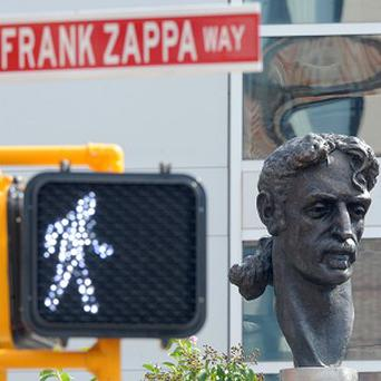 A statue of musician Frank Zappa was put up in Baltimore