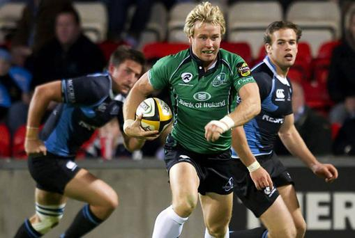 Connacht's exciting winger Fionn Carr is very much a 'blond bombshell' in the mould of former Irish international Simon Geoghegan.