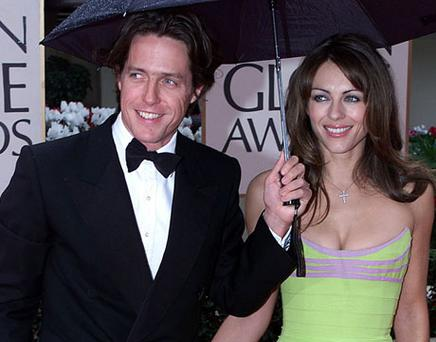 Liz Hurley and Hugh Grant. Photo: Getty Images