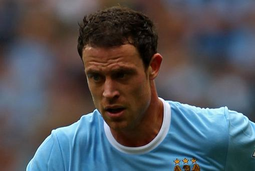 Manchester City defender Wayne Bridge has been ruled out for two weeks with a thigh injury. Photo: Getty Images
