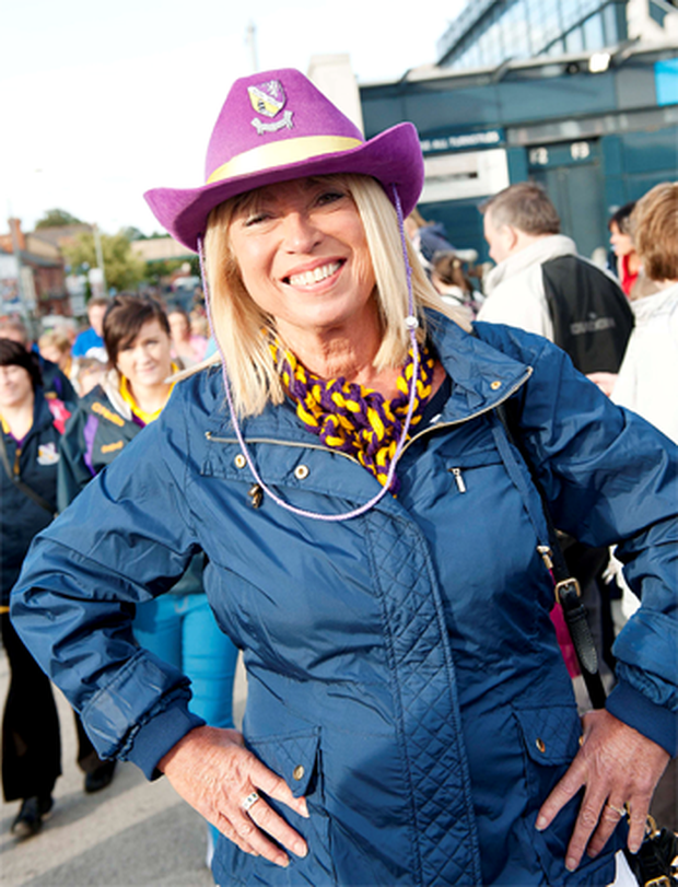 Among the proud Wexford fans, former RTE newsreader Anne Doyle was close to tears following Wexford's 3 -- 13 victory over Cork's 3 -- 6.