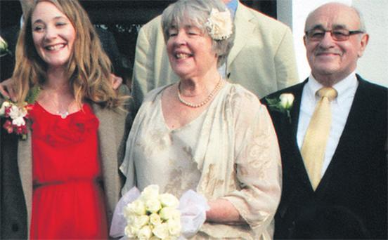 Ciara Elliot with Sue and Ray on their wedding day.