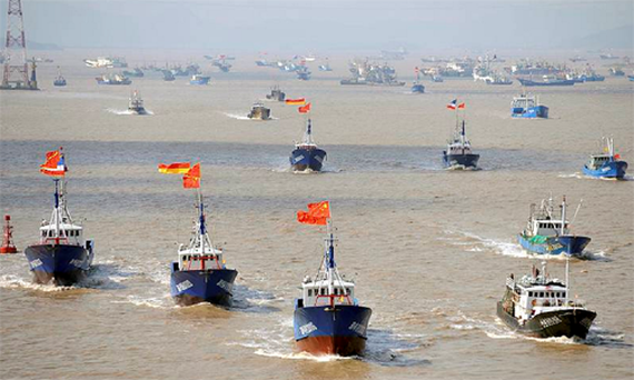 Chinese fishing boats, which appear suspiciously well-drilled and organised, have clashed with the Japanese coastguard over the Diaoyu, or Senkaku, islands in the past, but never in such numbers.