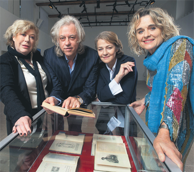 Geldof, the high-profile former Boomtown Rats singer, joined Irish actress, Sinead Cusack; singer Marianne Faithfull; and actress Charlotte Rampling before a captivated audience of around 800 who had gathered to hear the special guests read from some of the works of WB Yeats.