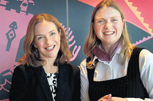 Dr Rhona Mahony and Dr Muireann Cullen at the NHF Annual Seminar at the Gibson Hotel in Dublin yesterday