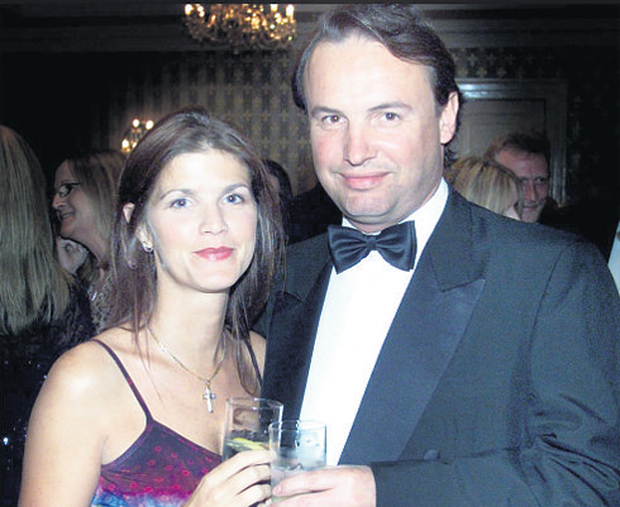 Mr O'Brien in 2002 with his now estranged wife Fiona Nagle.