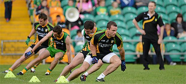 Donegal train ahead of Sunday's All-Ireland final