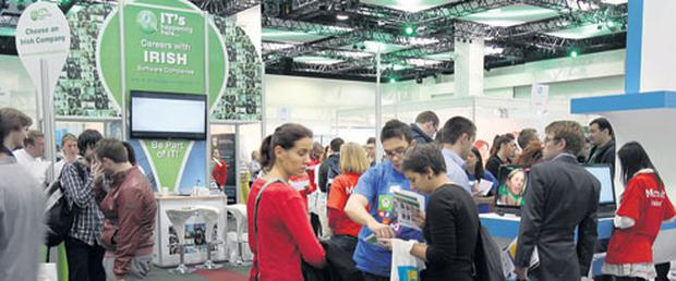 People exploring the different stands at Careers Zoo at the Convention Centre Dublin last year