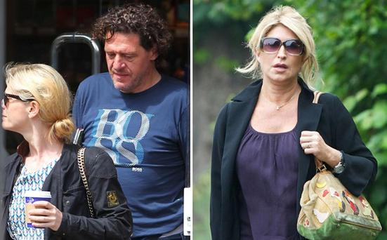 Marco Pierre White with Emilia Fox, the actress. His estranged wife, Matilda Conejero, right, was in court