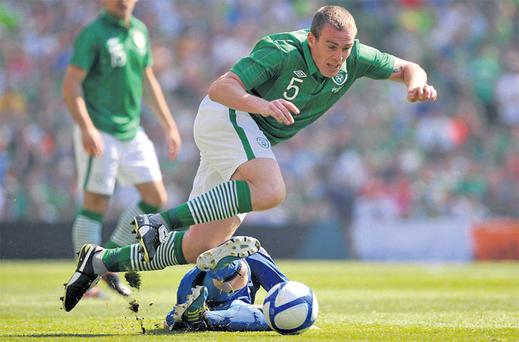 If Richard Dunne wins his fitness race, the World Cup qualifier against Germany is likely to be his first game of the season