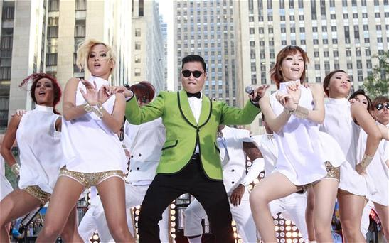 The South Korean rapper Psy in Gangnam Style video