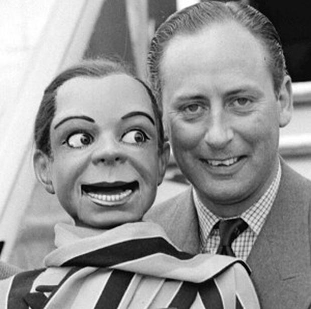 Ventriloquist's dummy Archie Andrews, pictured here with Peter Brough in May 1957, is making a comeback