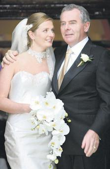 PROUD TIMES: Former billionaire Sean Quinn and daughter Ciara on her wedding day in 2007. Photo: Frank McGrath