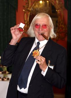 File photo dated 25/03/08 of Sir Jimmy Savile. PRESS ASSOCIATION Photo. Issue date: Monday October 1, 2012. The nephew of the late broadcaster Sir Jimmy Savile has said his family is