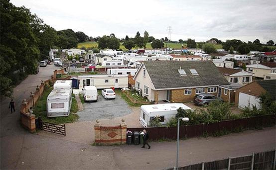 Caravans and mobile homes dominate permanent housing at Dale Farm
