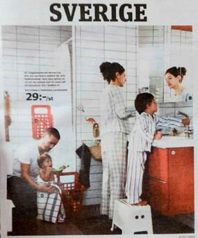 A page from the IKEA catalogue available in Sweden