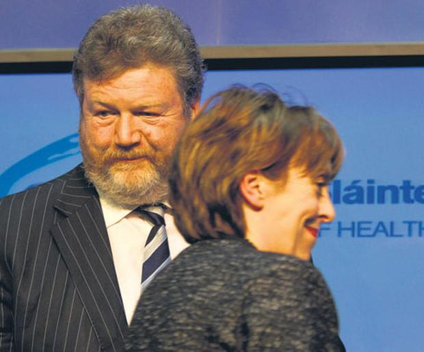 Health Minister Dr James Reilly and Roisin Shortall TD