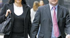 Struck-off solicitor Michael Lynn and his wife Brid