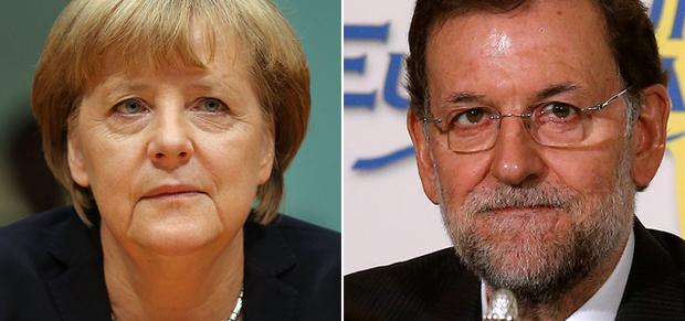 German Chancellor Angela Merkel and Spanish Prime Minister Mariano Rajoy