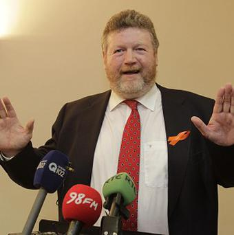 Health Minister James Reilly has been accused of engaging in 'stroke politics'