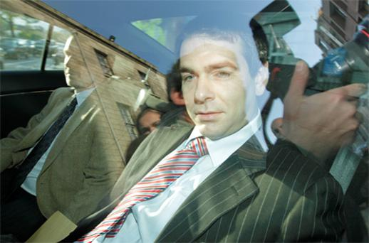 Sean Quinn Jr pictured leaving the Four Courts yesterday
