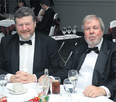 James Reilly pictured at a function with developer Seamus Murphy.