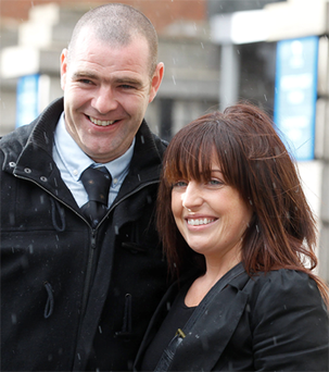 Miranda Molloy and Paul Dowling were forced to sleep in jackets and tracksuits for three nights just to keep warm.