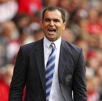 Roberto Martinez was critical of the referee's performance after Wigan's 4-0 defeat at Manchester United