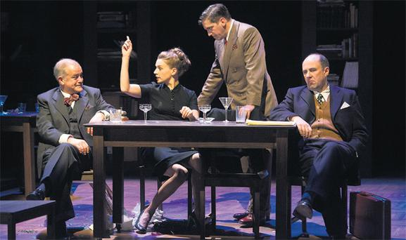 Apple of New York's eye: Darragh Kelly, Catherine Walker, Owen McDonnell and Lorcan Cranitch in Maeve Brennan biography The Talk of the Town