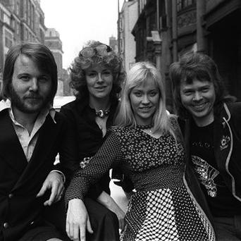 Ex-Abba star Agnetha Faltskog, second from right, is making a comeback
