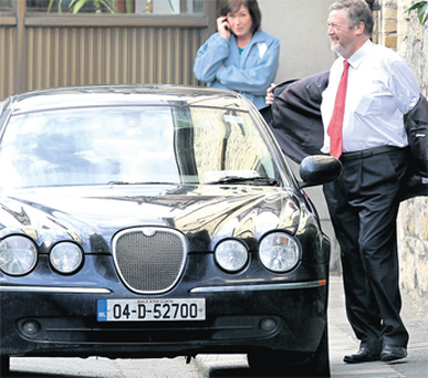 Health Minister Dr James Reilly leaving Leinster House yesterday.