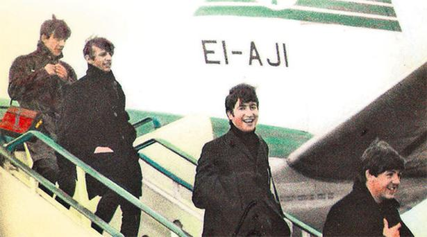 The Beatles arrive at Dublin Airport