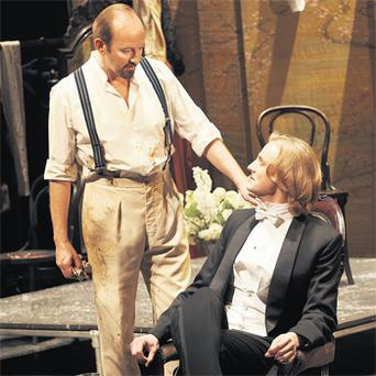 Parlour tricks: Frank McCusker and Tom Canton in The Picture of Dorian Gray