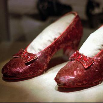 Dorothy's ruby slippers from The Wizard Of Oz are heading to London