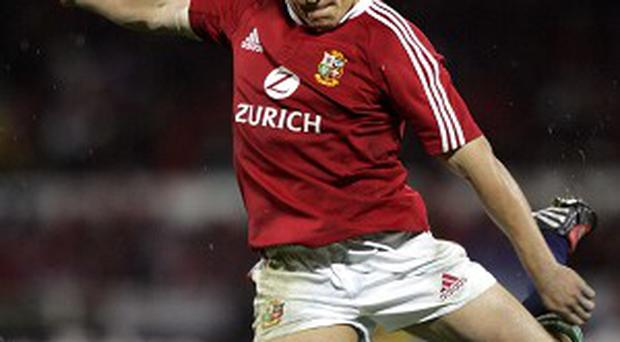 Jonny Wilkinson in action for the British and Irish Lions