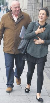 Jessica Cush and her father Philip leaving the High Court