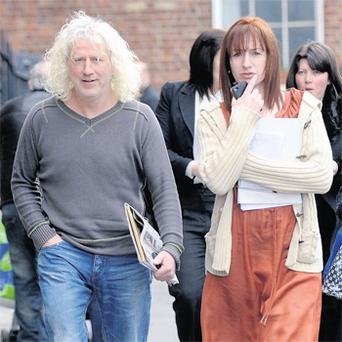 Mick Wallace and Clare Daly earlier this year, before Ms Daly left the Socialist Party