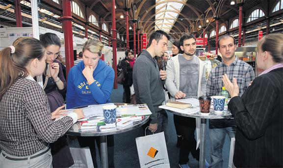 Thousands of young people are attending the Working Abroad Expo in the RDS, Ballsbridge this weekend