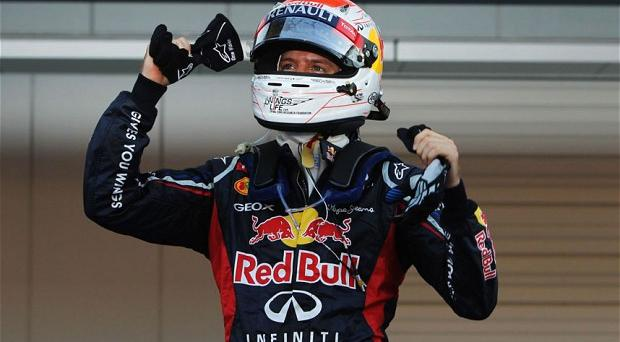 Top of the world: Sebastian Vettel made is three wins out of four at the Suzuka circuit