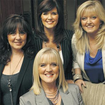 The Nolan Sisters (clockwise from left) Coleen, Maureen, Linda and Bernie