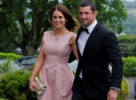 Rob Kearney and Susie Amy at Gordon D'Arcy's wedding earlier this summer.