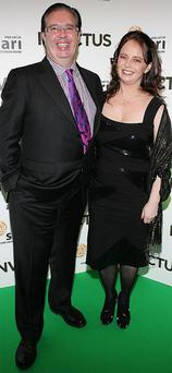 The late Gerry Ryan with his partner and author of the memoir on their relationship 'When We Dance', Melanie Verwoerd