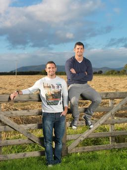 Rob Kearney with his brother Dave on their Co Leitrim farm