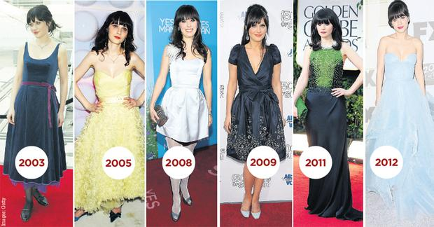Zooey DesChanel didn't always have that trademark vintage style (see 2003) which has made her something of a fashion icon.