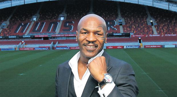 Former World Heavyweight Boxing Champion Mike Tyson pictured at Thomond Park